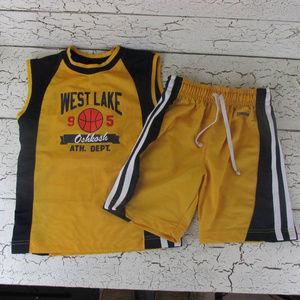 Oshkosh Athletic Shirt and Shorts Set Boys 5